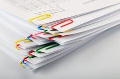 Grampos de papel Fotografia de Stock
