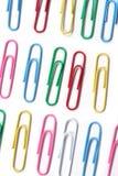 Grampos de papel Imagens de Stock
