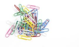 Grampos de papel coloridos Foto de Stock