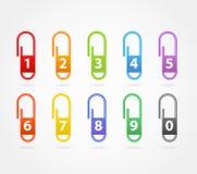 Grampos de papel da cor Foto de Stock