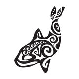 Grampus tattoo in Maori style. Vector illustration EPS10 Stock Image