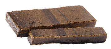 Two Pieces of Hashish Stock Image