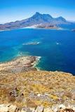 Gramvousa海岛,克利特,希腊 库存照片