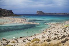 Gramvousa and Balos Lagoon in Crete stock photos