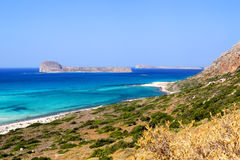 Gramvousa - en ö nära Crete Arkivbild