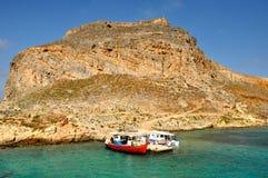 Gramvousa Insel stockfotos