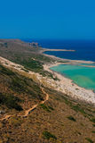 Gramvousa island and Balos Lagoon on Crete Stock Photo