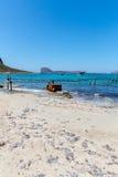 Gramvousa, island Crete, Greece. Balos beach. Royalty Free Stock Images