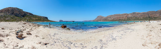 Gramvousa, island Crete, Greece. Balos beach. Magical turquoise waters, lagoons, beaches Stock Photography