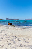 Gramvousa, island Crete, Greece. Balos beach. Magical turquoise waters, lagoons, beaches Stock Images
