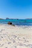Gramvousa, island Crete, Greece. Balos beach. Magical turquoise waters, lagoons, beaches Stock Images