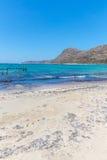 Gramvousa, island Crete, Greece. Balos beach. Magical turquoise waters, lagoons, beaches Royalty Free Stock Photos