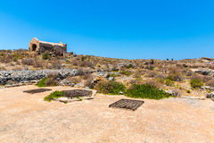 Gramvousa island in Crete, Greece with remains of Venetian fort Stock Photo