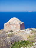 Gramvousa island fortress building, Royalty Free Stock Photography