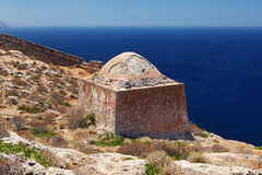 Gramvousa island fortress building, Crete, Greece Royalty Free Stock Images