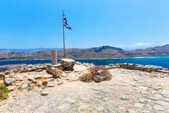 Gramvousa island near Crete, Greece. Balos beach. Stock Image