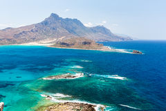 Gramvousa island near Crete, Greece. Balos beach. Royalty Free Stock Images