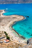 Gramvousa island near Crete, Greece. Balos beach. Magical turquoise waters, lagoons, beaches Royalty Free Stock Photos