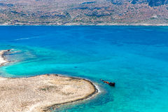 Gramvousa island near Crete, Greece. Balos beach. Royalty Free Stock Photography