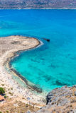 Gramvousa island near Crete, Greece. Balos beach. Magical turquoise waters, lagoons Royalty Free Stock Image