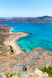 Gramvousa island near Crete, Greece. Balos beach. Magical turquoise waters, lagoons, beaches Royalty Free Stock Photography