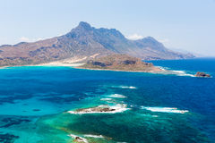 Gramvousa island near Crete, Greece. Balos beach. Magical turquoise waters, lagoons Royalty Free Stock Photos