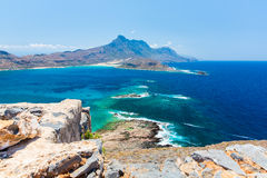 Gramvousa island near Crete, Greece. Balos beach. Magical turquoise waters, lagoons, beaches Royalty Free Stock Photo