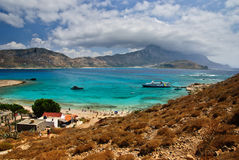 Gramvousa island with picturesque view of Balos lagoon, Crete, Greece. Gramvousa island with picturesque view of azure Balos lagoon, Crete, Greece Stock Images