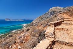 Gramvousa Island, Crete, Greece. Stock Photos