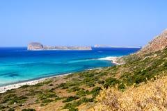 Gramvousa - um console perto de Crete Fotografia de Stock
