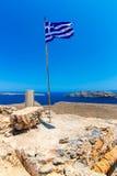 Gramvousa wyspa blisko Crete, Grecja. Balos plaża. Magiczny turkus nawadnia, laguny, plaże fotografia royalty free