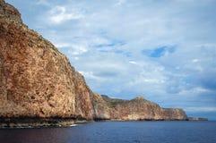 Gramvousaschiereiland in Griekenland stock afbeelding