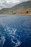 Gramvousaschiereiland in Griekenland stock fotografie