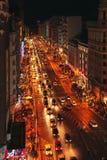 gran马德里西班牙通过 库存图片