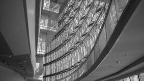 Gran ámbar de la sala de conciertos Imagen de archivo libre de regalías
