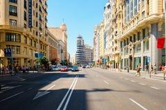 Gran über, einer der berühmtesten Bereiche in Madrid Stockfotografie