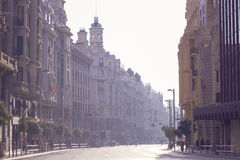 Gran über Straße - Cibeles Lizenzfreies Stockfoto