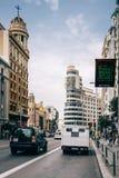 Gran μέσω της οδού στη Μαδρίτη Στοκ εικόνες με δικαίωμα ελεύθερης χρήσης