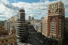gran Μαδρίτη μέσω Στοκ εικόνες με δικαίωμα ελεύθερης χρήσης