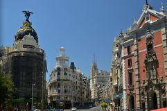 gran Μαδρίτη μέσω Στοκ Εικόνα