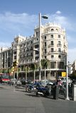 gran οδός της Μαδρίτης μέσω τη&sigmaf Στοκ εικόνες με δικαίωμα ελεύθερης χρήσης