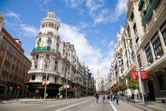 gran Μαδρίτη μέσω Στοκ Φωτογραφίες