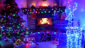 Gran año y la Navidad del Ne de la celebración metrajes