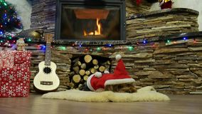 Gran año y la Navidad del Ne de la celebración almacen de video
