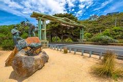 Gran arco del monumento del camino del océano imagenes de archivo