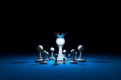 Gran autoridad Líder (metáfora del ajedrez) 3d rinden la ilustración libre illustration