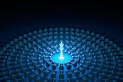 Gran autoridad (metáfora del ajedrez) ilustración de la representación 3d ilustración del vector