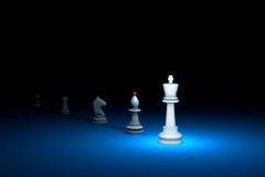 Gran autoridad y x28; metaphor& x29 del ajedrez; 3d rinden la ilustración S libre ilustración del vector