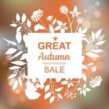 Gran Autumn Sale Banner Imágenes de archivo libres de regalías