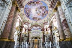 Gran biblioteca más grande de la abadía vieja Fotos de archivo